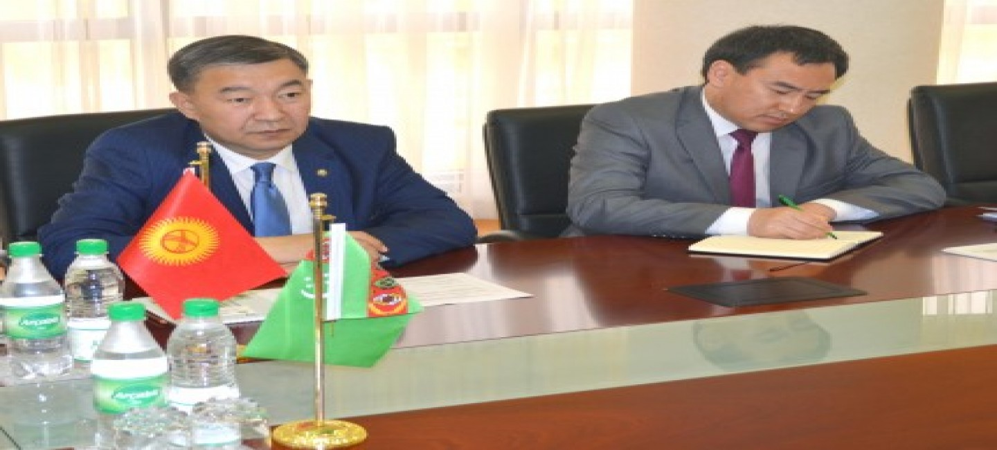 MEETING WITH THE DELEGATION OF THE KYRGYZ REPUBLIC IN THE MFA OF TURKMENISTAN