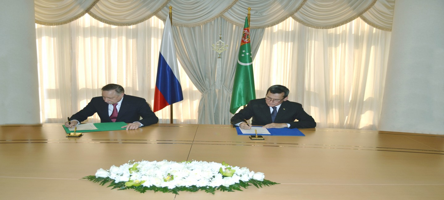 VISIT OF THE GOVERNOR OF SAINT-PETERSBURG TO ASHGABAT