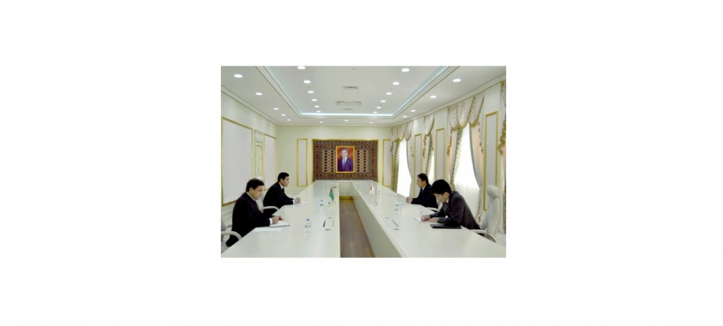 MEETING OF THE MINISTER OF INDUSTRY AND CONSTRUCTION PRODUCTION OF TURKMENISTAN WITH THE AMBASSADOR EXTRAORDINARY AND PLENIPOTENTIARY OF JAPAN TO TURKMENISTAN